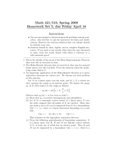 Math 421/510, Spring 2008 Homework Set 5, due Friday April 18 Instructions