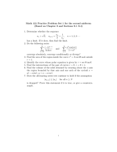 Math 121 Practice Problem Set 1 for the second midterm