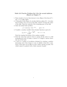 Math 121 Practice Problem Set 2 for the second midterm