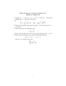 Math 121 Review, Practice Problem Set 1 (Based on Chapter 9)