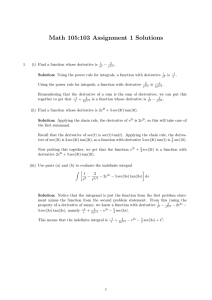Math 105:103 Assignment 1 Solutions