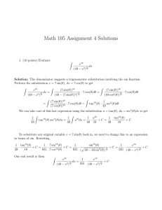 Math 105 Assignment 4 Solutions