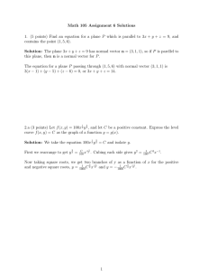 Math 105 Assignment 6 Solutions