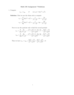 Math 105 Assignment 7 Solutions 1. Compute u + u