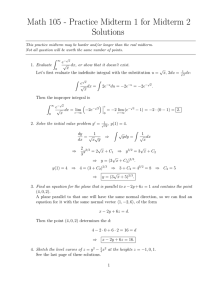 Math 105 - Practice Midterm 1 for Midterm 2 Solutions