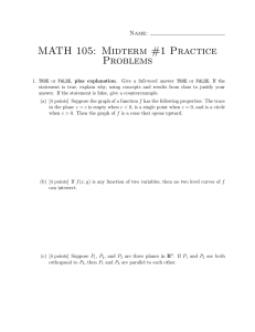 MATH 105: Midterm #1 Practice Problems Name: