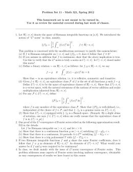 Rudin homework solutions chapter 7