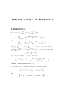 Solutions to MATH 300 Homework 4 EXERCISES 2.4