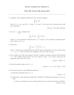 Review worksheet for Midterm 2 Math 300, Section 202, Spring 2015