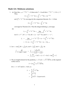 Math 121: Midterm solutions ≤ ≥ =