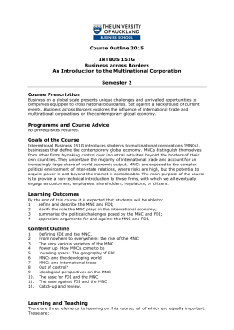 Course Outline 2015 INTBUS 151G Business across Borders