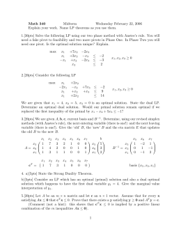 Math 340 Midterm Wednesday February 22, 2006