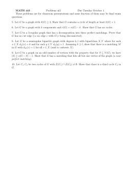 MATH 443 Problems #2 Due Tuesday October 1.