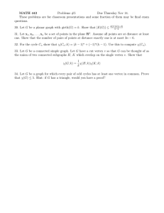 MATH 443 Problems #5 Due Thursday Nov 14.