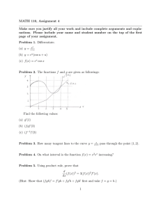 MATH 110, Assignment 4