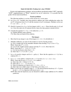 Math 322 Fall 2015: Problem Set 1, due 17/9/2015