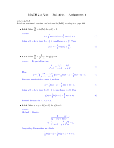 MATH 215/255 Fall 2014 Assignment 1