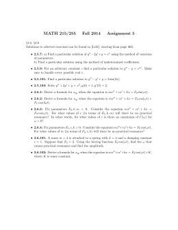 MATH 215/255 Fall 2014 Assignment 5