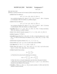 MATH 215/255 Fall 2014 Assignment 7