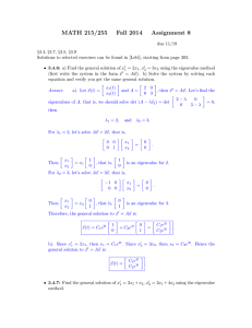 MATH 215/255 Fall 2014 Assignment 8