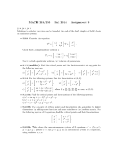 MATH 215/255 Fall 2014 Assignment 9