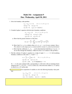 Math 316 – Assignment 9 Due: Wednesday, April 30, 2011