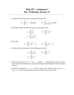 Math 257 – Assignment 1 Due: Wednesday, January 12