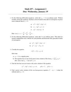Math 257 – Assignment 2 Due: Wednesday, January 19