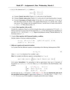 Math 257 – Assignment 6. Due: Wednesday, March 2