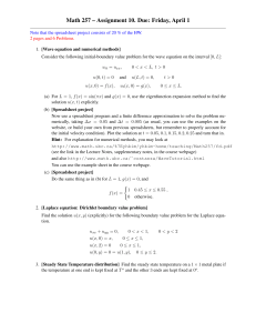 Math 257 – Assignment 10. Due: Friday, April 1