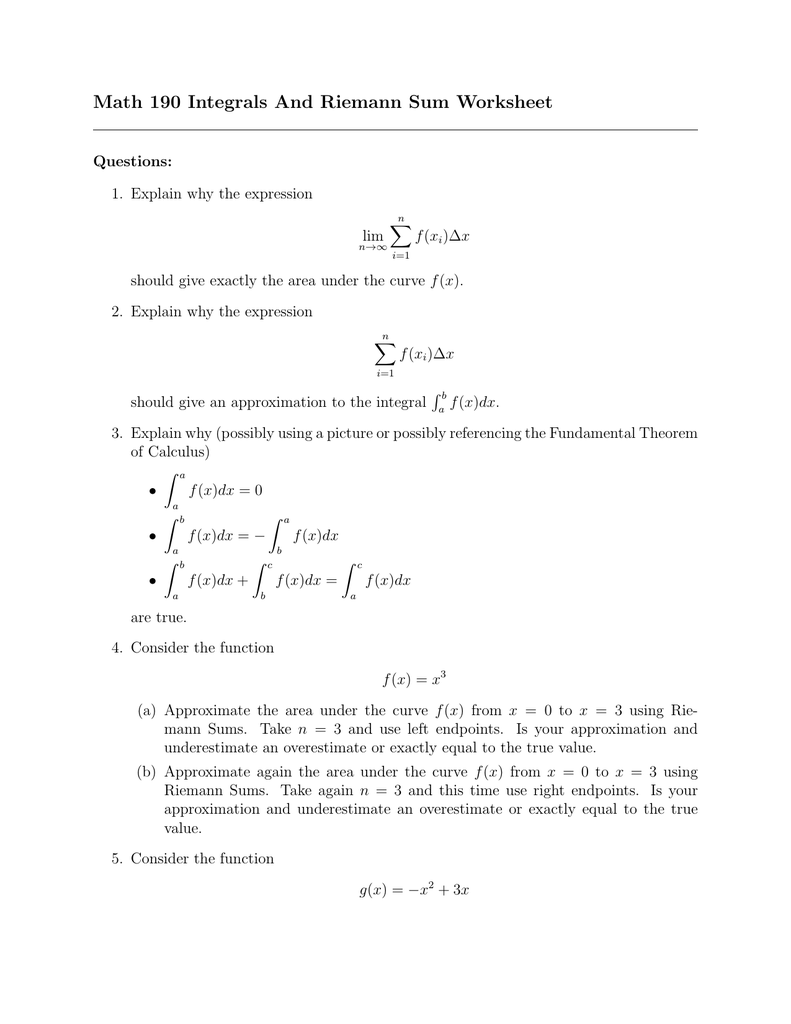 worksheet Calculus Worksheet riemann sum worksheet the best and most comprehensive worksheets 011126602 1 d7ac730c77359d3b06162dc27d5f1834 upper lower sums