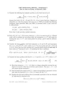 UBC Mathematics 402(101)—Assignment 5