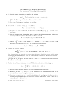 UBC Mathematics 402(101)—Assignment 2