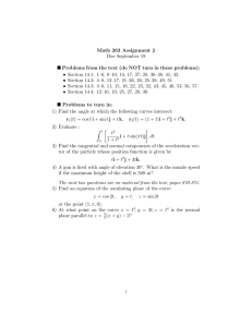 Math 263 Assignment 2 Due September 19