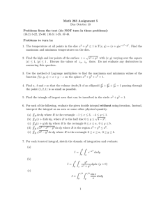 Math 263 Assignment 5 Due October 10