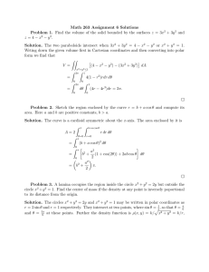Math 263 Assignment 6 Solutions
