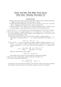 Math 440/508, Fall 2008, Final Exam (Due date: Monday December 8) Instructions