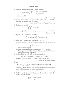 Review Sheet 1 ( if (x, y, z) 6= (0, 0, 0)