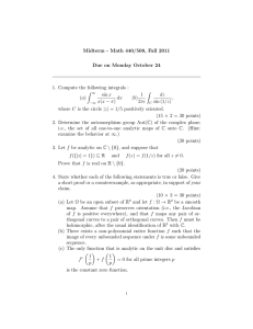 Midterm - Math 440/508, Fall 2011 Due on Monday October 24 Z