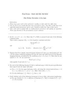 Final Exam - Math 440/508, Fall 2012 Instructions: