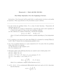 Homework 1 - Math 440/508, Fall 2014