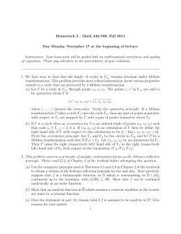 Homework 3 - Math 440/508, Fall 2014