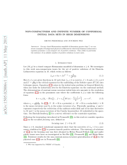NON-COMPACTNESS AND INFINITE NUMBER OF CONFORMAL