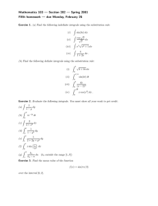 Mathematics 103 — Section 202 — Spring 2001