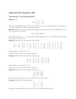 Mathematics 307|December 6, 1995 Third homework | due Tuesday, November 7