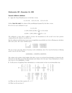 Mathematics 307|November 16, 1995 Second midterm solutions 1 from this result