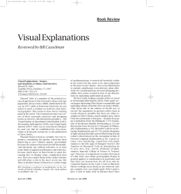 Visual Explanations Book Review Reviewed by Bill Casselman