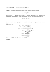 Mathematics 446 — fourth assignment solutions