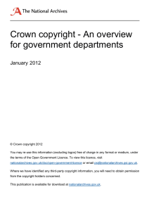 Crown copyright - An overview for government departments January 2012
