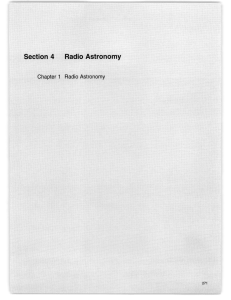 Section  4 Radio Astronomy Chapter